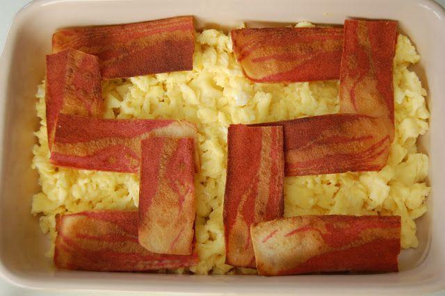 "rabbit food rocks: Entertaining: Breaking Bad Party Menu (No Spoilers) #breakingbad #vegetarian Skylar's Birthday Eggs & ""Bacon"""