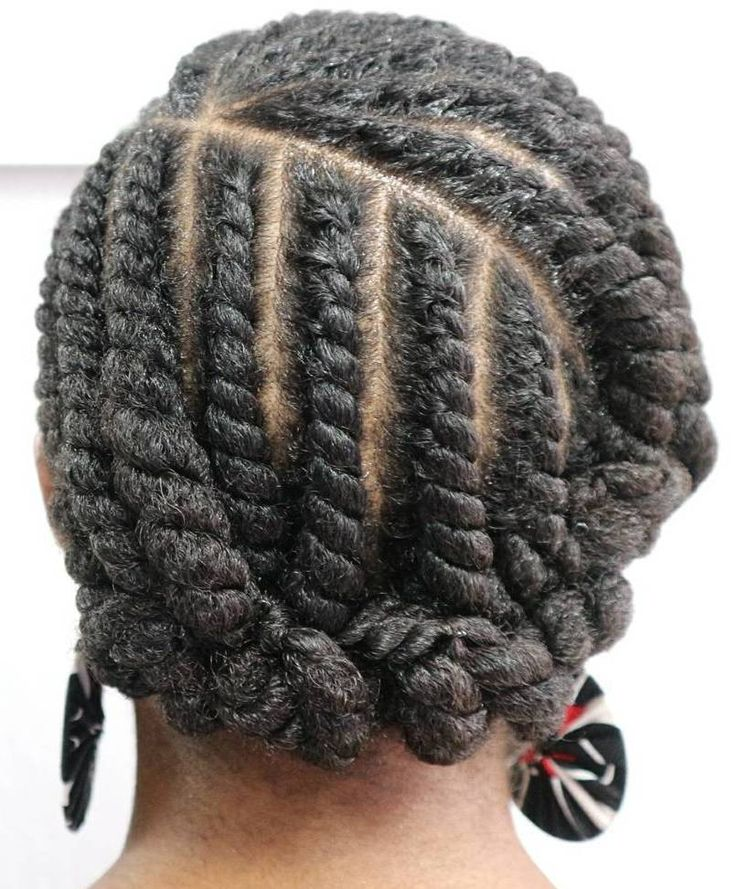 Vertical and Circular Flat Twists Updo