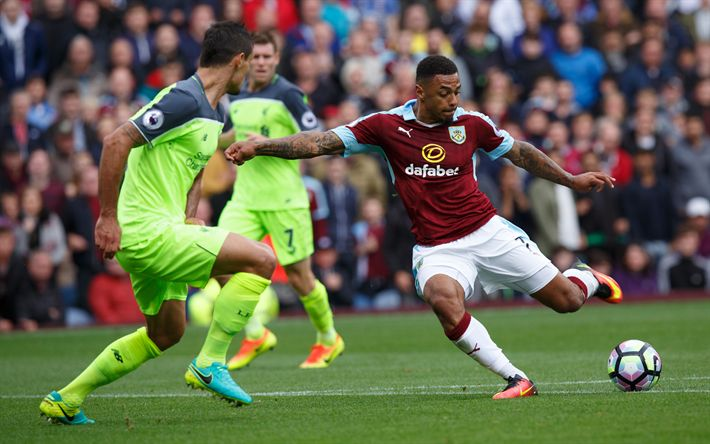 Download wallpapers Andre Gray, Burnley FC, English footballer, Premier League, England