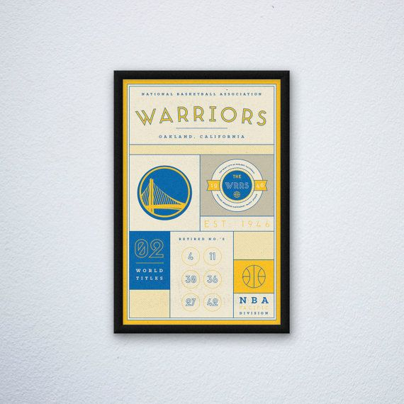 Golden State Warriors Stats Print by DesignsByEJB on Etsy