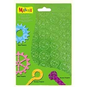 Makins Texture Sheets - Set F Steampunk - Pack of 4 Add different textures to your projects by pressing the sheets over the clay. For best results moisten sheet slightly (spray works well) before pressing on clay.  Designs include:  Sprockets, Gears, Hex Bolts & Large Lag Screws (Steampunk Designs) $6.95