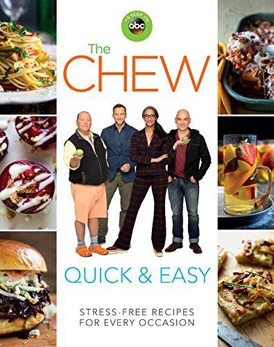 The Chew makes cooking and entertaining QUICK & EASY! The hosts of ABC's hit show The Chew invite you to enjoy the fun and flavor of cooking without the stress. Just as they do every day on television, The Chew hosts provide mouthwatering recipes and time-saving tips to make cooking for... more details available at https://www.kitchen-dining.com/blog/cookbooks-food-wine/celebrities-tv-shows/product-review-for-the-chew-quick-easy-stress-free-recipes-for-every-occasion