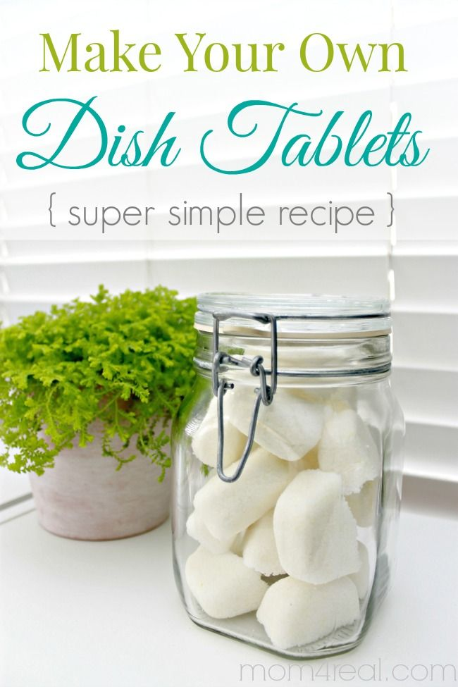 Homemade Dishwasher Tabs - Make Your Own Dishwasher Tablets or Dish Tabs