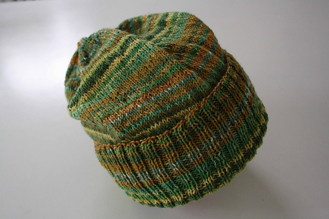Bit less brown in my yarn but the basic greens are similar.