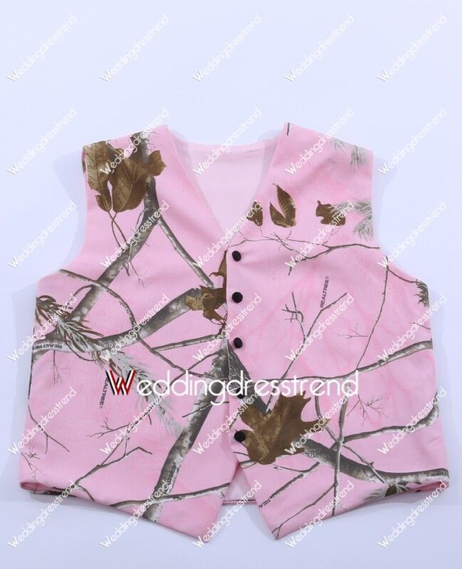 Sell Pink Camo Vest for Wedding