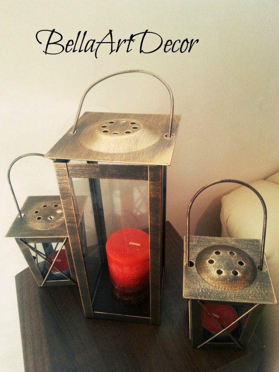 Set Of 6 White Mini Lanterns Wedding Candle Holders Rustic Wedding Decor Wedding Centerpiece Moroccan Mini Lanterns Rustic Lanterns Decor