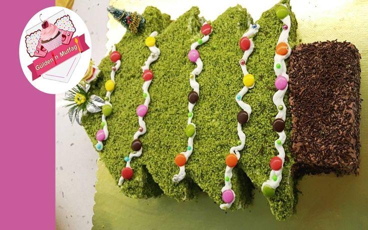 Ispanaklı pastadan yılbaşı pastası olur mu demeyin. oluyor Gıda boyası kullanmadan sağlıklı kivili ve lzzetli yılbaşı pastası yapım aşamaları için videomuzu izlemeyi unutmayın, yeni tarifleri kaçırmamak için lütfen kanalımıza abone olunuz