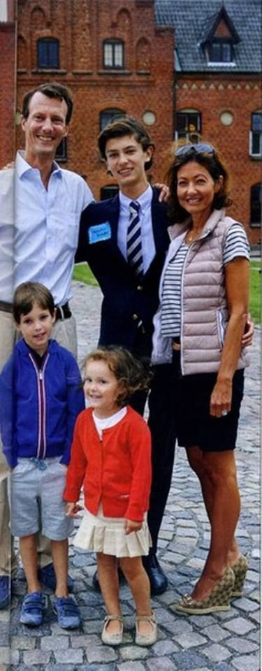 Prince Joachim and Countess Alexandra went and visited Prince Nikolai at his high school/boarding school, Herlufsholm.