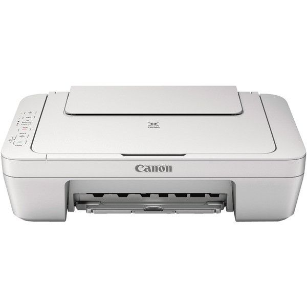 CANON 9500B027 PIXMA(R) MG2924 Wireless Printer (White) • Hybrid ink system• Prints photos & documents at 8 images per minute•4800 x 600 dpi color resolution• Auto power-on•Special filter effects•Buil