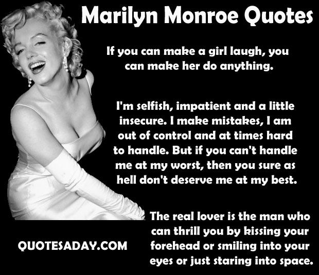 Marilyn Monroe Quotes - 15 Pics