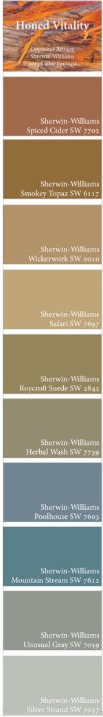 Opposites Attract Sherwin Williams 2017 Color Forecast Honed Vitality Palette