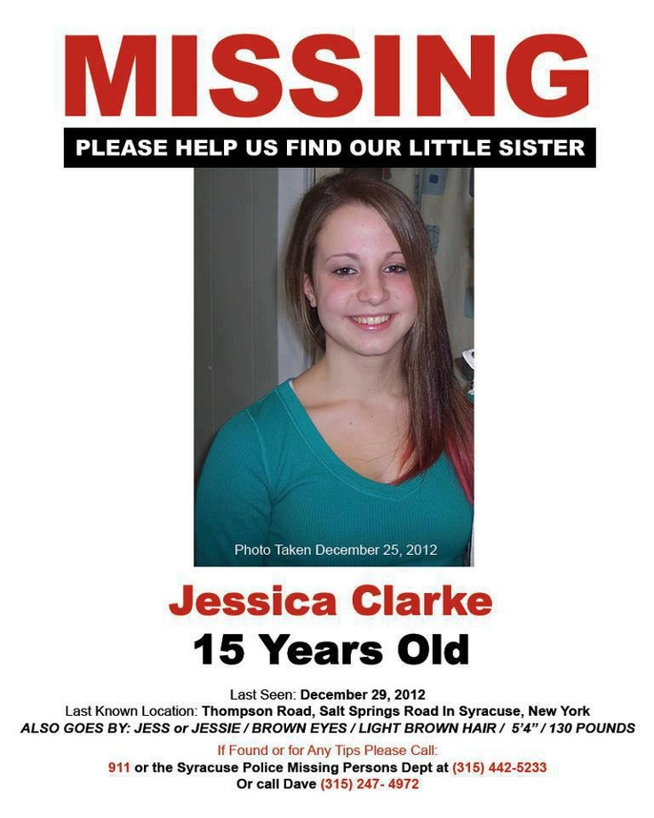 Missing Persons of America -Jessica Clarke, New York, LS: 12/29/2012
