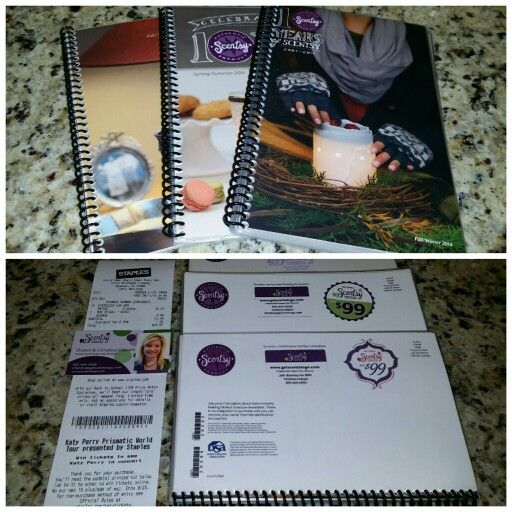 Laminate 1 new Scentsy catalog each season! Carry it foe 6 months, have it at your desk, in your purse, take to home shows, events and more! This keeps it looking great, no smudges and it can be used as a reference tool later!