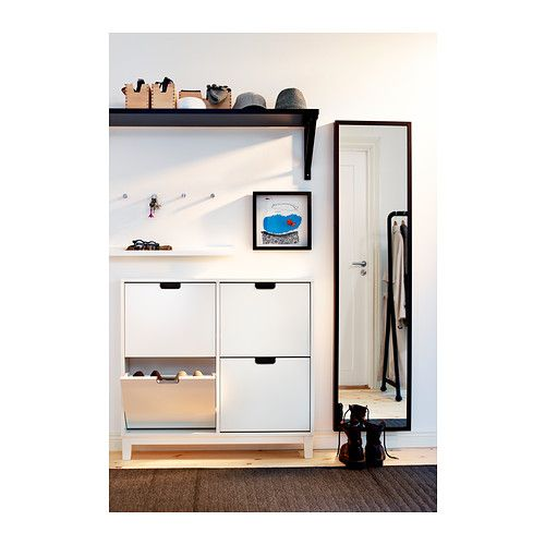 st ll shoe cabinet with 4 compartments black brown. Black Bedroom Furniture Sets. Home Design Ideas
