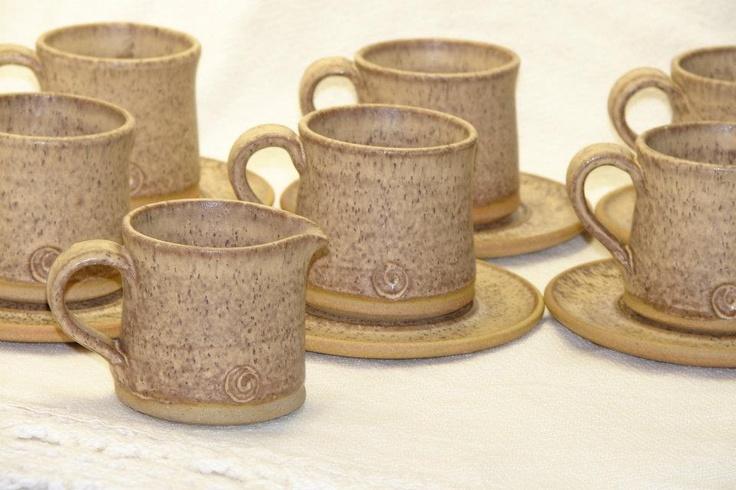 Juego café en cerámica gres