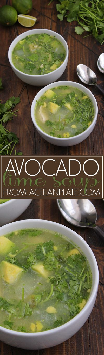 Autoimmune protocol Avocado Lime Soup recipe from A Clean Plate