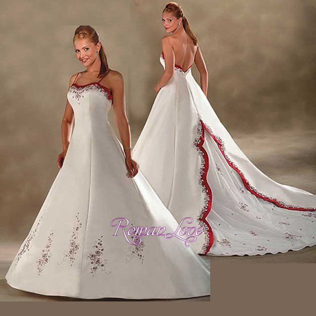 Wedding dresses flower embroidered lace embroidery for Flower embroidered wedding dress