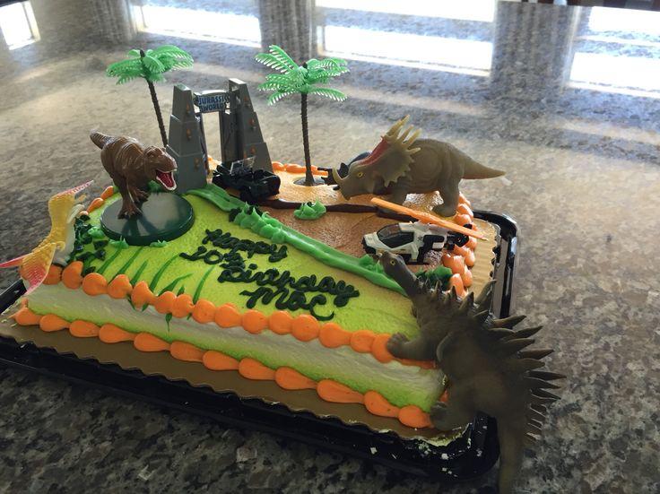 Jurassic World inspired birthday cake