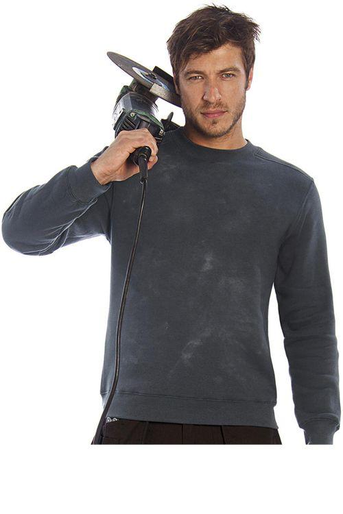 Bluză de lucru Unisex B&C PRO din 80% bumbac pieptănat și 20% poliester #bluze #lucru #personalizate #brodate #imprimate