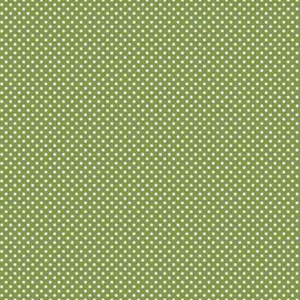 Bavlněná látka Puntíčky na zelené