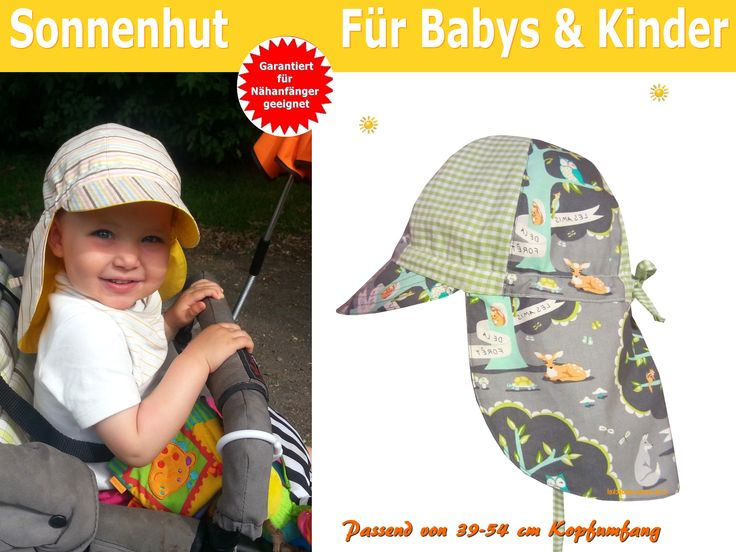 Schnittmuster Sonnehut/Sommerhut für Kinder selber nähen