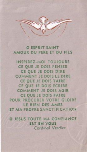esprit saint | Prières et méditations à la louange du Saint-Esprit