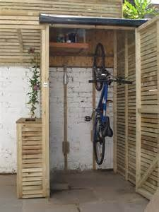 "Bicycle Shed -- great idea for quick access to ""daily bike""!"