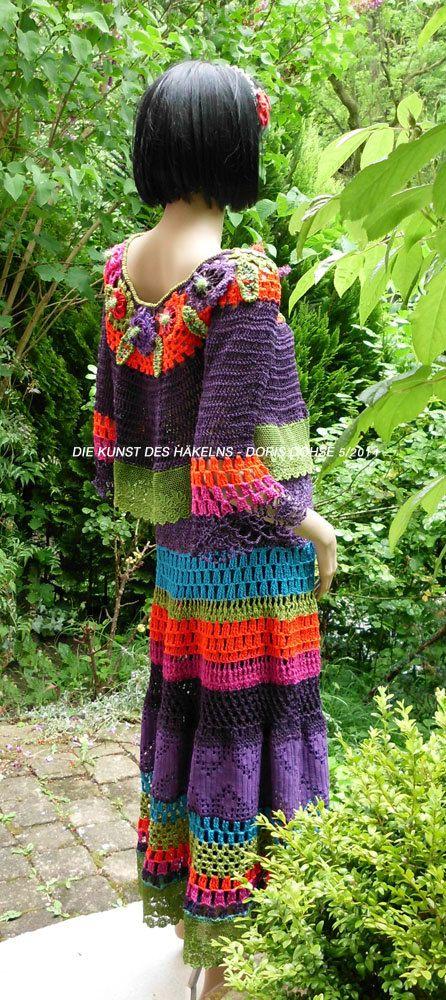 S u p e r offerFrida Kahlo style crochet dress colorful