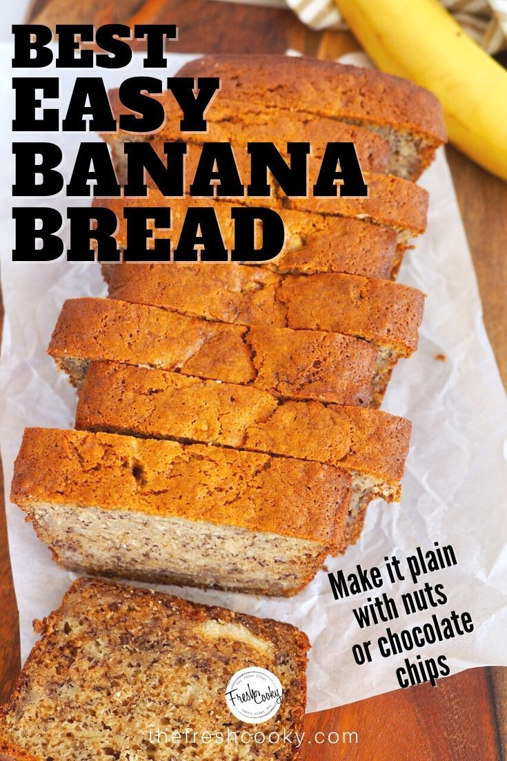 Best Easy Banana Bread Recipe High Altitude Gluten Free Option The Fresh Cooky Recipe In 2020 Easy Banana Bread Recipe Banana Bread Recipes Yummy Food Dessert