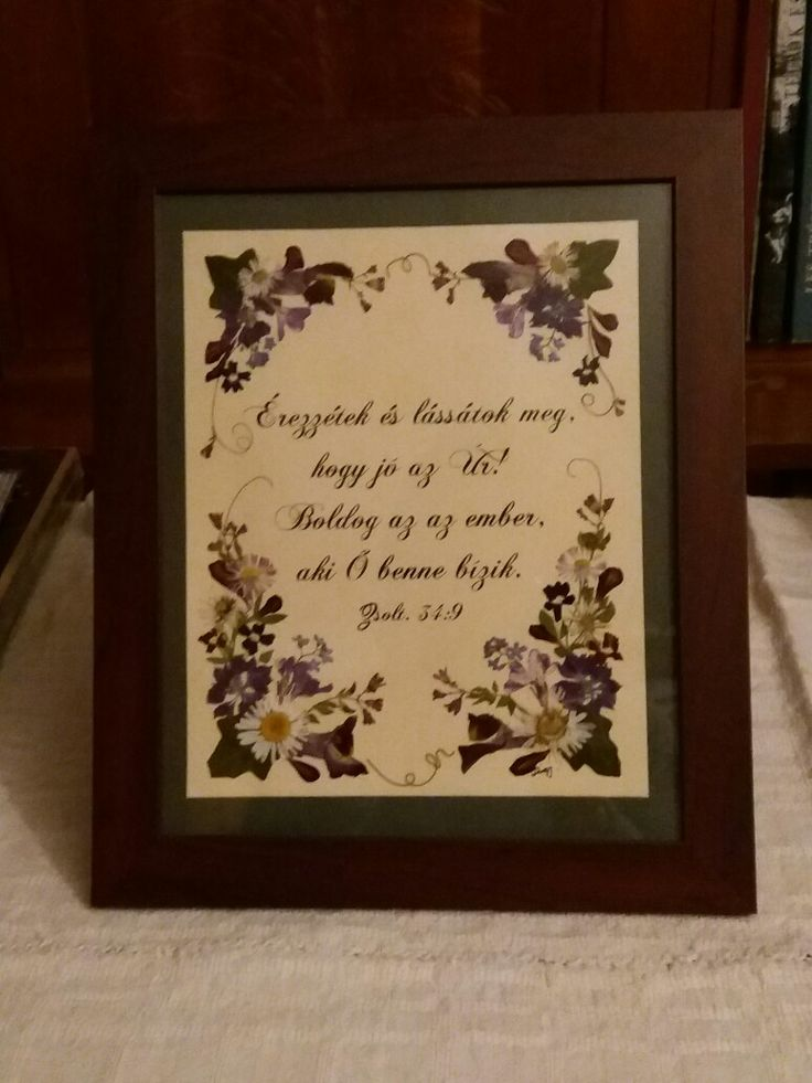 Pressed flower picture- Christmas gift for mother