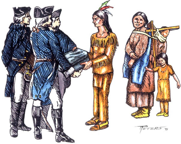 european settlers interaction with the native americans What they failed to recognize was that the land had, in fact, been home to generations of native americans so as eager settlers moved into the new territory, they often found that someone was.