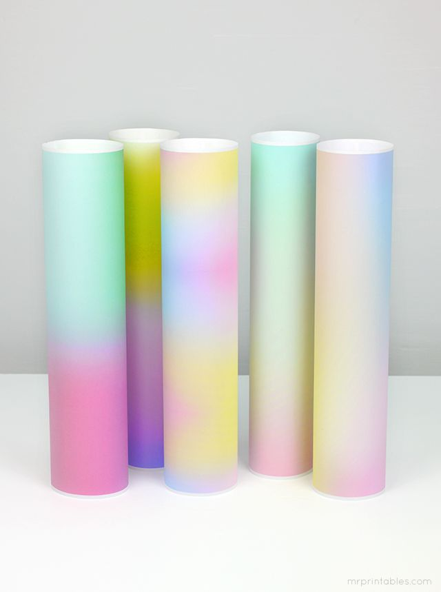 free printable sky gradient papers // beautiful as small gift wrapping