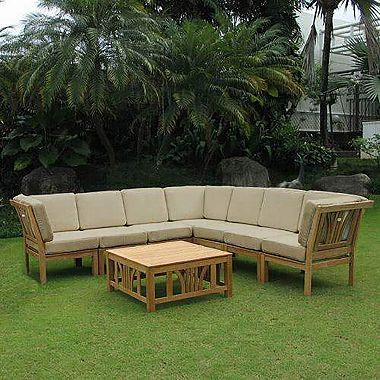 Best Catalina Teak 8 Piece Sectional Sofa Set Various Colors 400 x 300