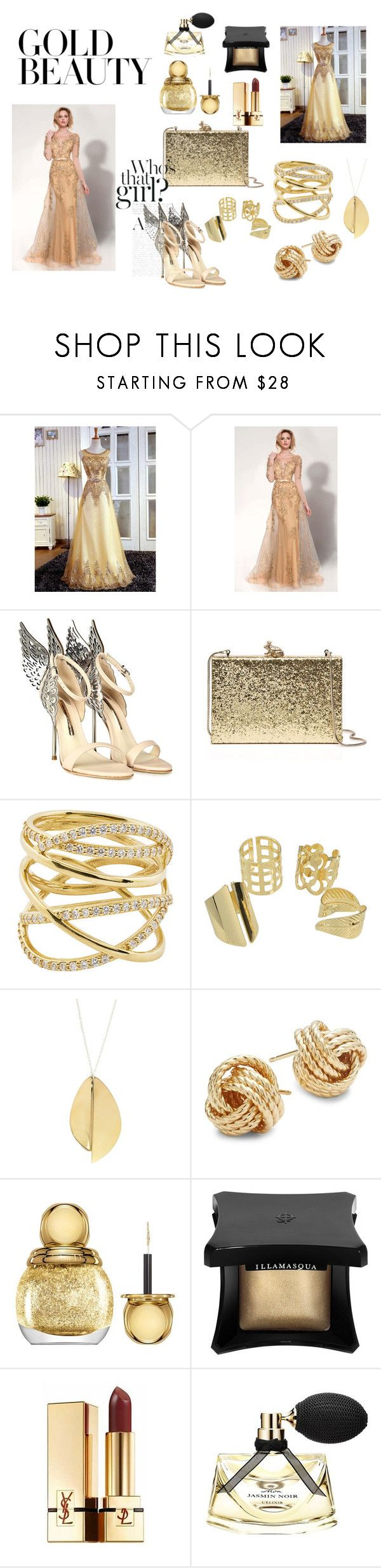 """""""Untitled #35"""" by ajladelicc ❤ liked on Polyvore featuring Sophia Webster, Kate Spade, Lana, Saks Fifth Avenue, Christian Dior, Illamasqua, Yves Saint Laurent and Bulgari"""