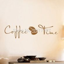 Coffee Wall Art Decal Sticker , vinyl coffee wall stickers for coffee shop or office decor free shipping ,F2072(China (Mainland))