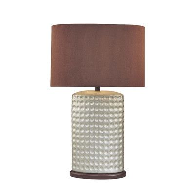 Brown and Silver Contemporary Lamp