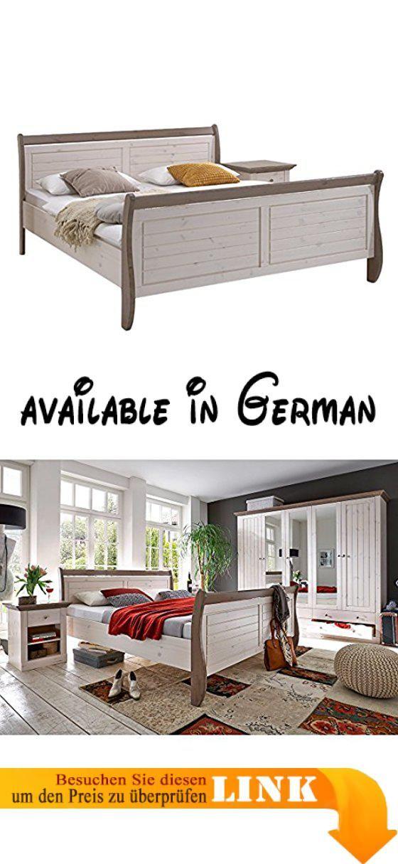 B00J99E9LY : Steens Furniture Monaco 654/69 Holzbett 140 x 200 cm. Bett in 140x200cm. traumhafte Nächte warten auf Sie in diesem stimmungsvollem Massivholzbett. aktueller Farbton in weiß/ graubraun abgesetzt