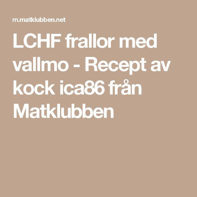 LCHF frallor med vallmo - Recept av kock ica86 från Matklubben