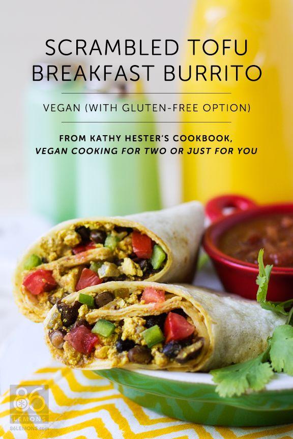 Slow cooker scrambled tofu breakfast burrito from vegan for Slow cooker breakfast recipes for two