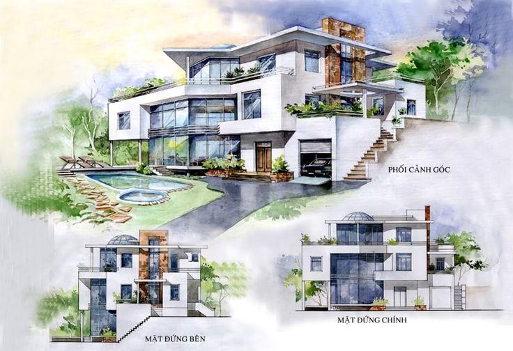 Diễn họa màu nước kiến trúc