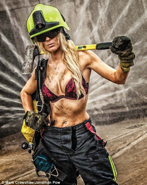 Smokin' hot! Female fire-fighters strip off for Britain's first ever all-women…