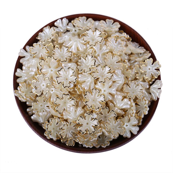Cheap beads for jewelry making, Buy Quality half beads directly from China beads for jewelry Suppliers: 70pcs/Lot Classic Jewelry Accessories Straight hole Five Leaf Flowers Half Beads For Jewelry Making Decorations