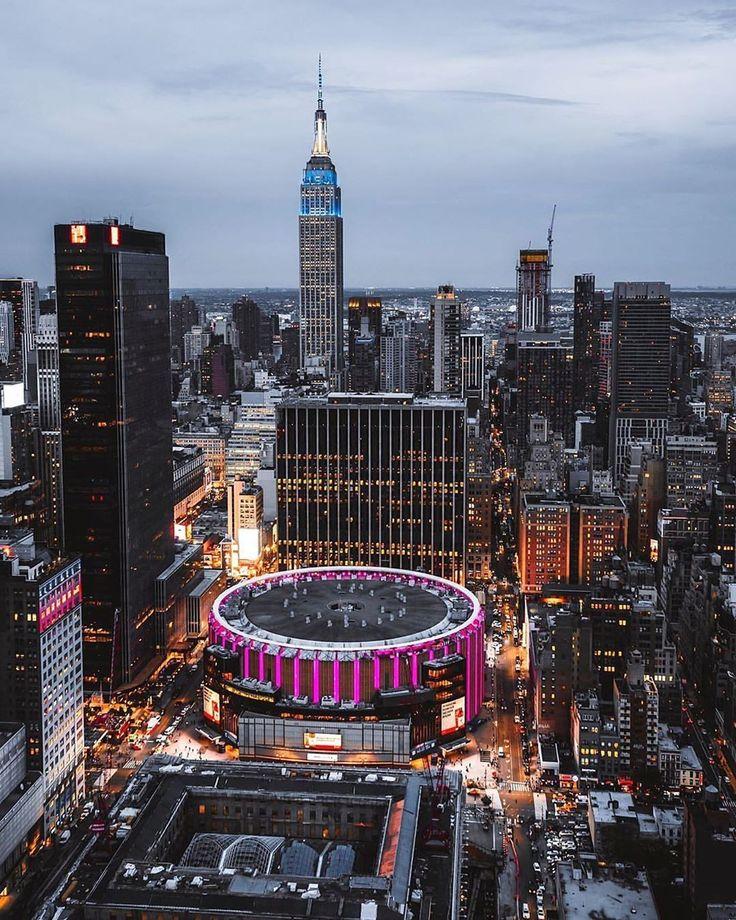 Madison Square Garden in 2020   Stadt, Lichter