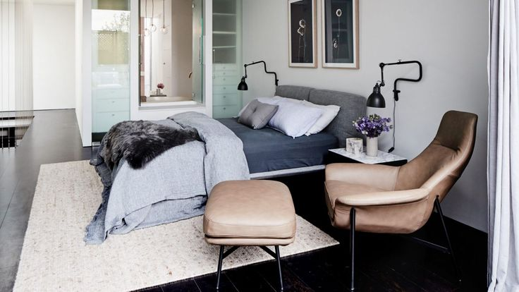 Rebecca Judd Prahran main bedroom renovation for the Style School. Styling by Aimee Tarulli