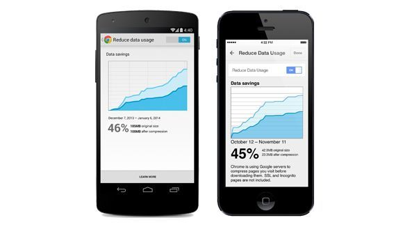 Cut mobile web data in half with the new Chrome app for iOS and Android | Google is introducing a new feature called 'data compression' in Chrome on iOS and Android. Buying advice from the leading technology site