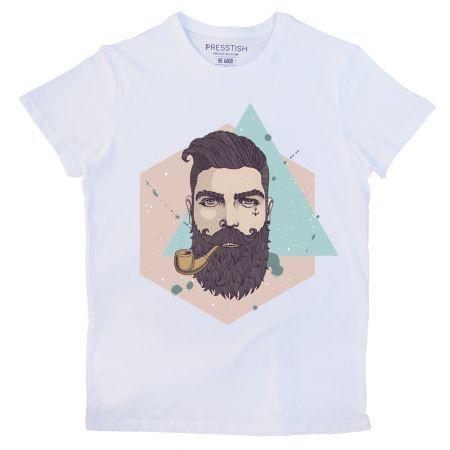 Bearded Hipster - Beyaz Erkek Tişört