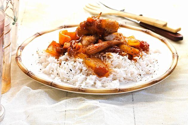 Γλυκόξινο κοτόπουλο με ρύζι μπασμάτι (Το Πρωινό 22.1.14)-featured_image