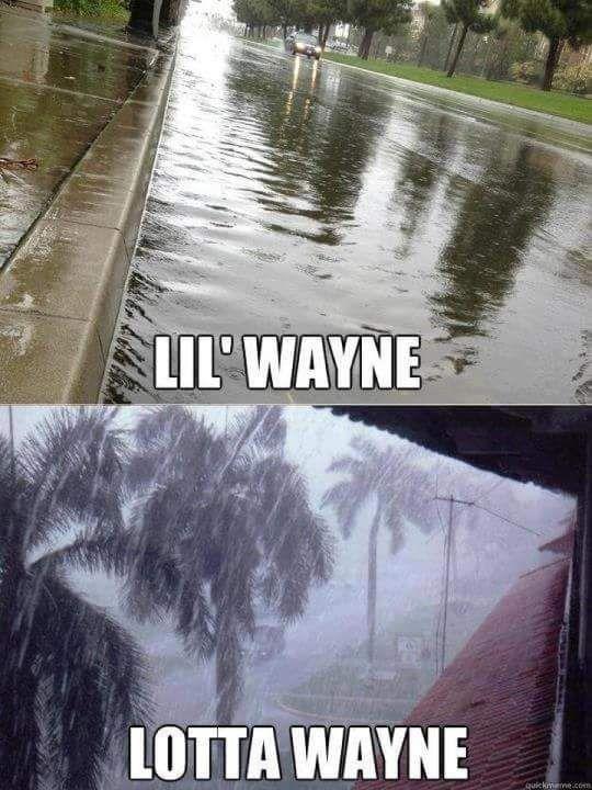 Lil Wayne rain meme