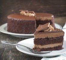 Recette - Gâteau au chocolat avec fondant très chocolat - Notée 4.1/5 par les internautes