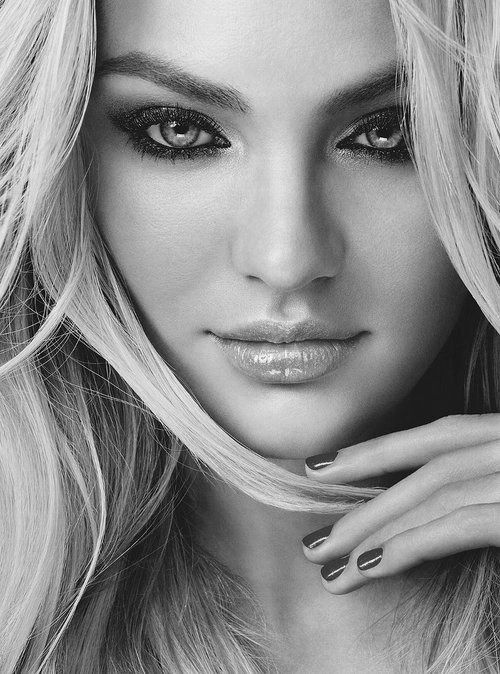 Like but too much makeup maybe for mine?Candice B/W Head Shot, Faces, Beauty